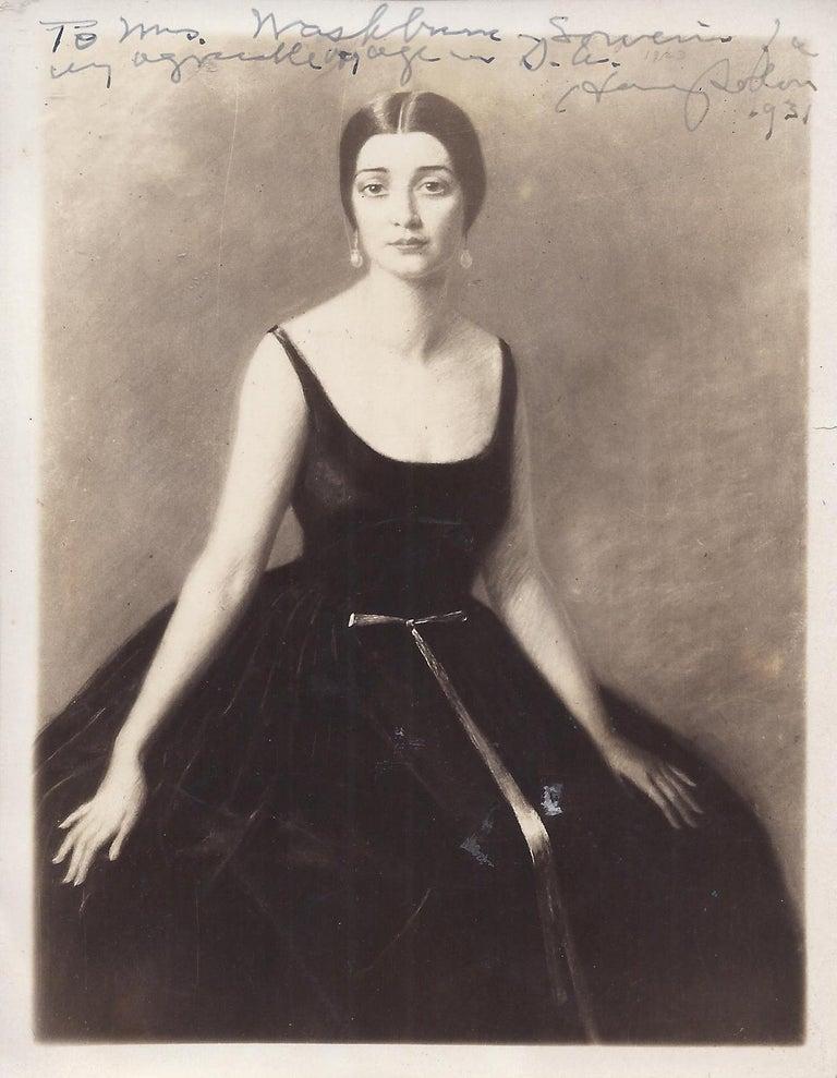 Early 20th century Portrait Study, 'Mrs. Washburne', Washington Socialite For Sale 9