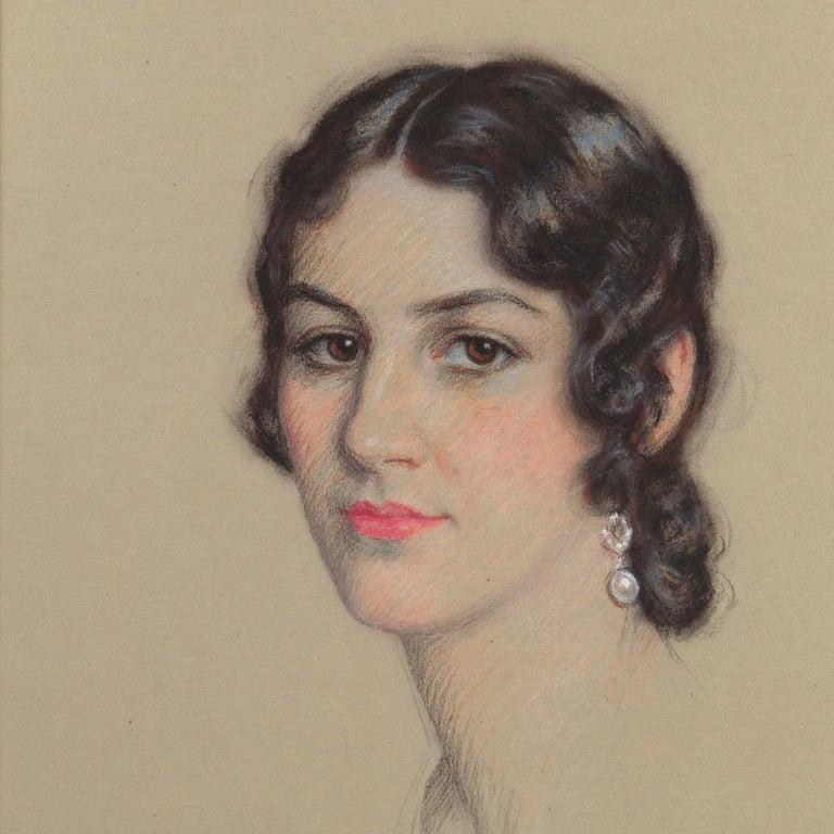Early 20th century Portrait Study, 'Mrs. Washburne', Washington Socialite For Sale 6
