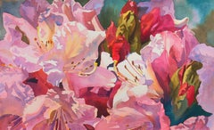 'Sisters Blushing', Lilies, National Watercolor Society