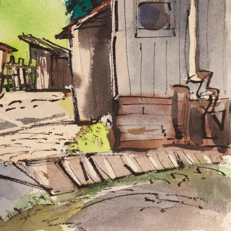 Old San Anselmo, California - Art by Muriel Backman