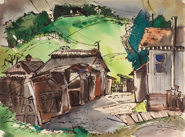Muriel Backman Landscape Art - Old San Anselmo, California