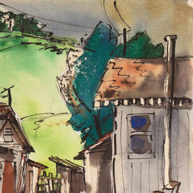 Old San Anselmo, California - Modern Art by Muriel Backman