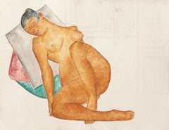 1920s Interior Drawings and Watercolors