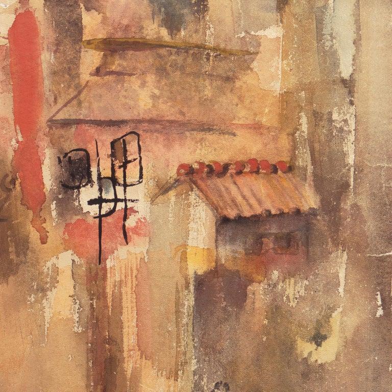'Village in Tuscany', California Modernist woman artist, SFAA For Sale 3