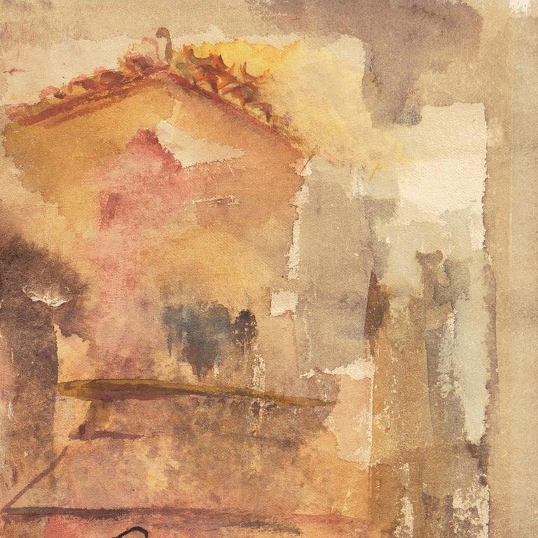 'Village in Tuscany', California Modernist woman artist, SFAA For Sale 1