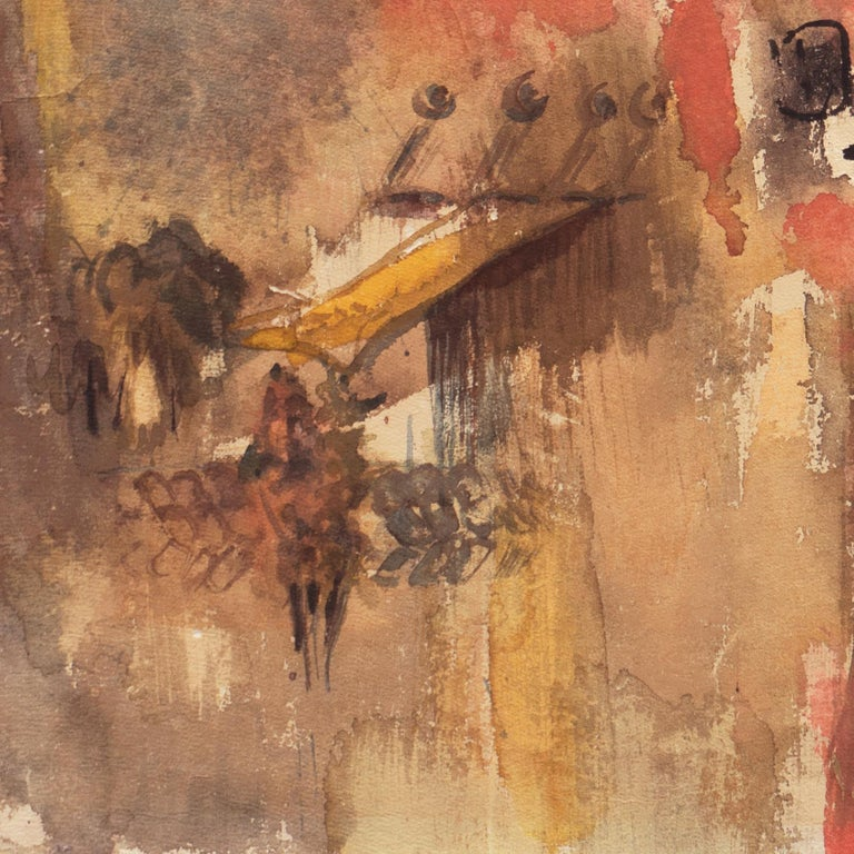 'Village in Tuscany', California Modernist woman artist, SFAA For Sale 2