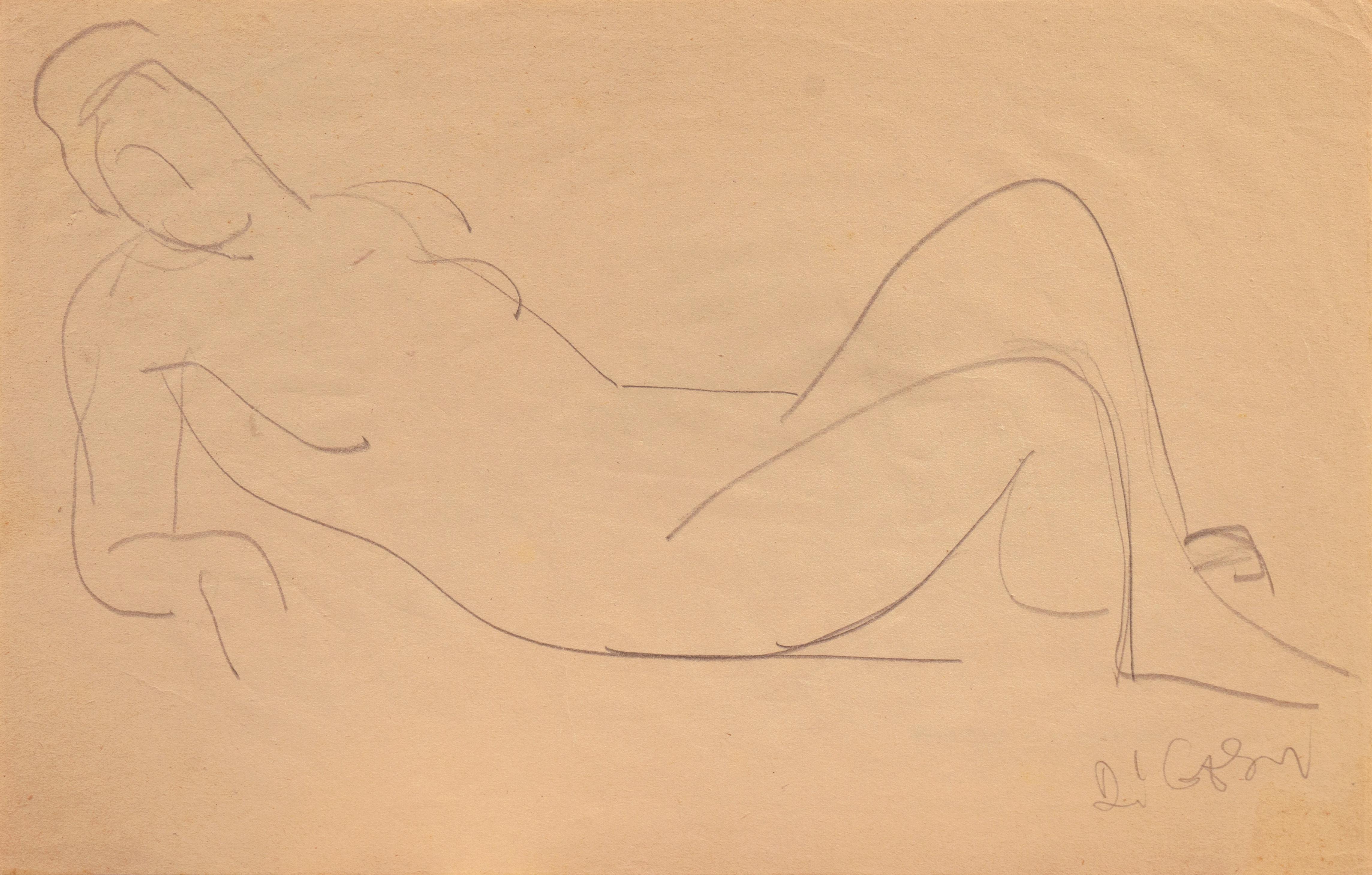California Post-Impressionist 'Reclining Nude' Louvre, Académie Chaumière, LACMA