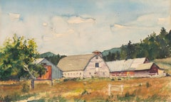 Rural Landscape with Dutch Barn