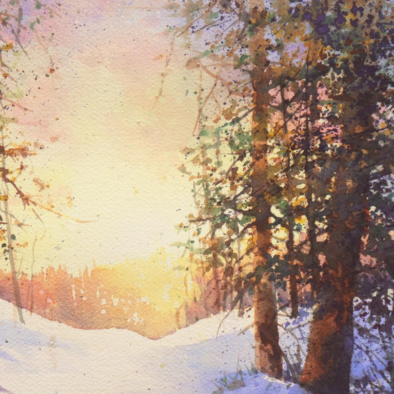 Snowy Mountain Sunrise For Sale 4