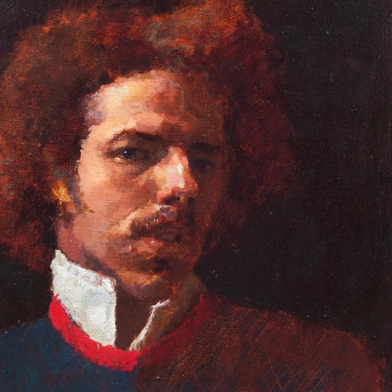 Self Portrait, 1982 - American Realist Painting by Douglas Ferrin