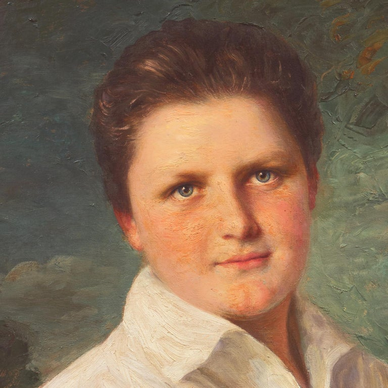 'Portrait of a Young Man', Munich Royal Academy, National Museum of American Art For Sale 2