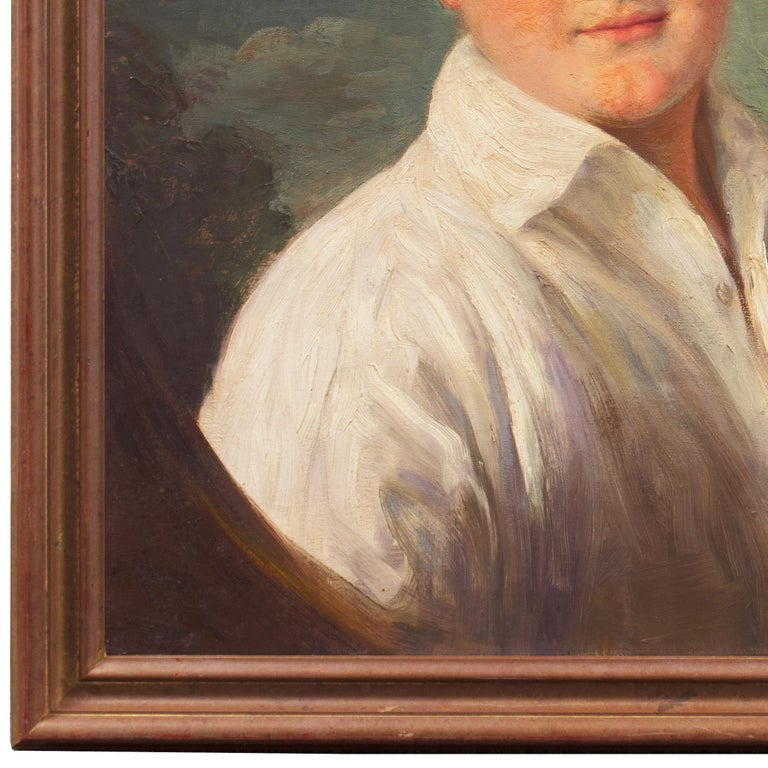 'Portrait of a Young Man', Munich Royal Academy, National Museum of American Art - Realist Painting by Adolfo Muller-Ury