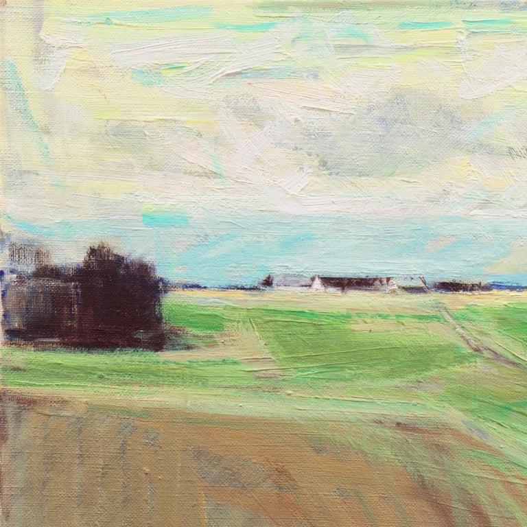 September Landscape   (Impressionism, Country, Denmark, Danish, Abstraction) For Sale 2