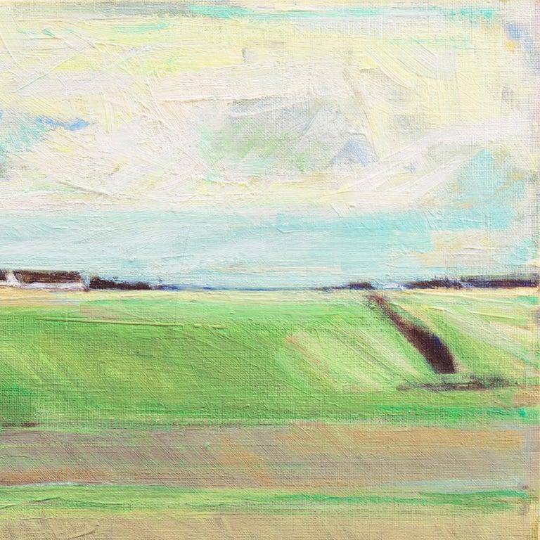 September Landscape   (Impressionism, Country, Denmark, Danish, Abstraction) For Sale 3