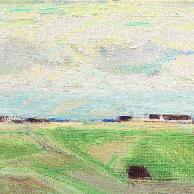 September Landscape   (Impressionism, Country, Denmark, Danish, Abstraction) For Sale 4
