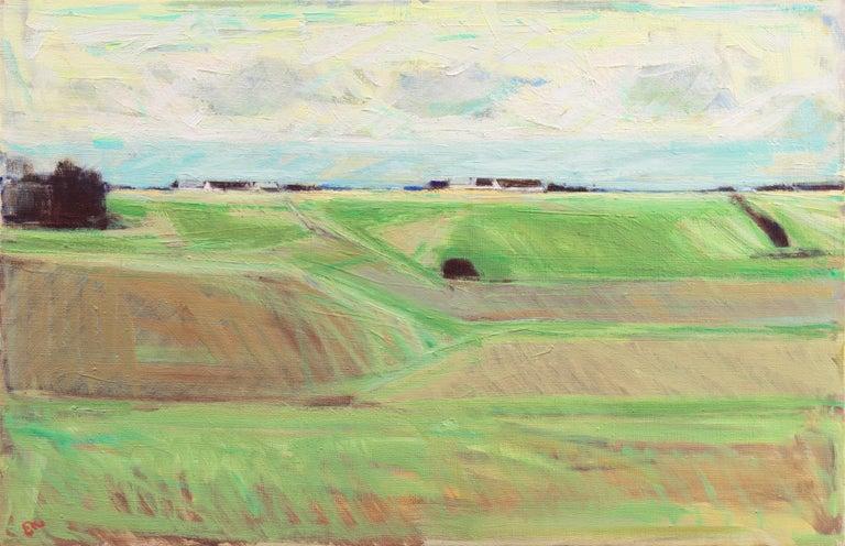 Erik Norgard Landscape Painting - September Landscape   (Impressionism, Country, Denmark, Danish, Abstraction)