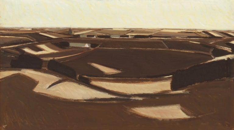 Erik Norgard Landscape Painting - Spring Landscape   (Impressionism, Country, Denmark, Danish, Abstraction)