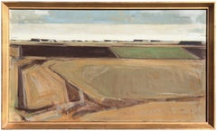 Large framed Danish Post-Impressionist, 'Rural Landscape', Copenhagen art Salons