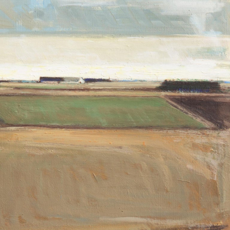 Rural Landscape   (Impressionism, Country, Denmark, Danish, Abstraction, framed) For Sale 1