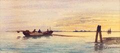 Venetian Fishermen at Sunset