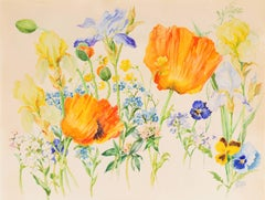 Botanical Study with Poppies  (Russian, Romanoff, Duchess, Royal Family, Queen)