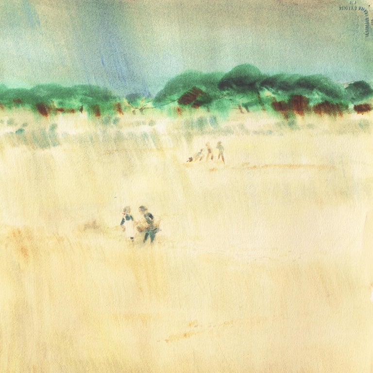 The Field Trip   (California, Modernism, Woman Artist, Genre, Carmel, WPA) For Sale 4