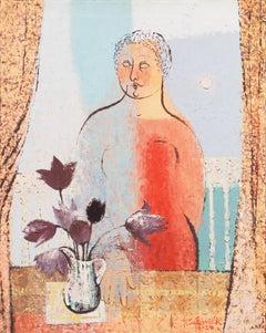 Hera   (Woman Artist, Post-Impressionism, Interior, pastel, Greek Mythology)