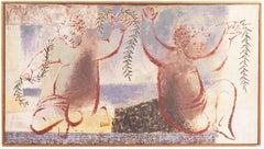 Gemini   (Woman Artist, Post-Impressionism, Interior, pastel, Astrology)