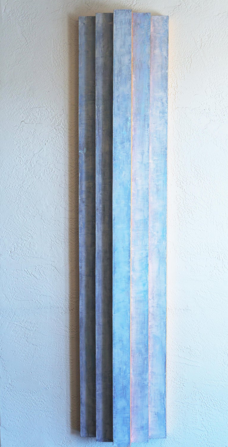 Irby Walton Abstract Sculpture - 'Pillar, Coral and Ice', California, San Francisco Art Institute