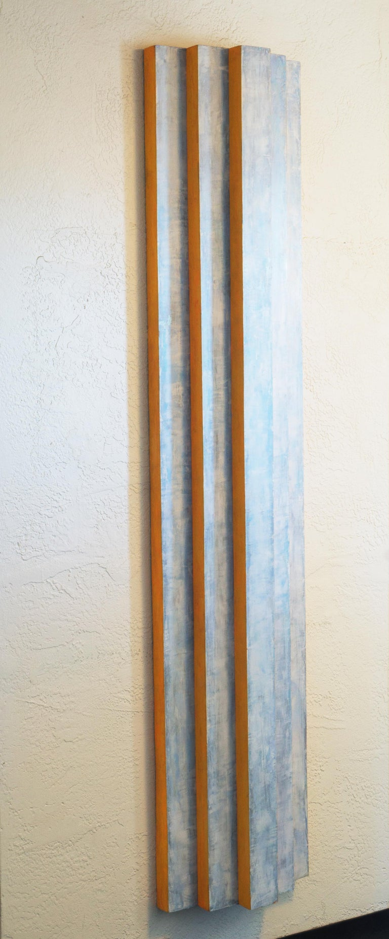 'Pillar, Coral and Ice', California, San Francisco Art Institute - Abstract Geometric Sculpture by Irby Walton