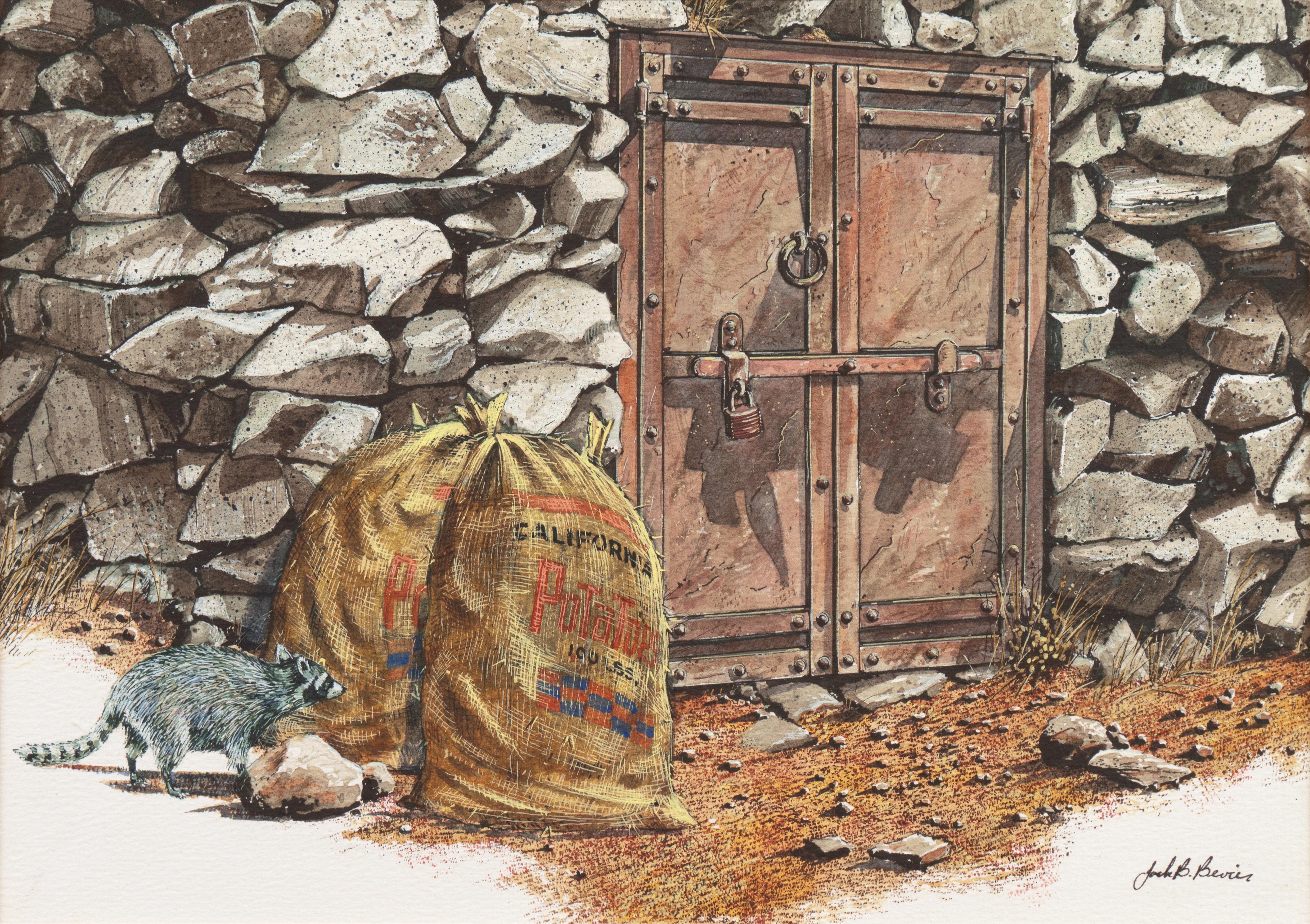 'The Little Bandit', California Raccoon, National Watercolor Society