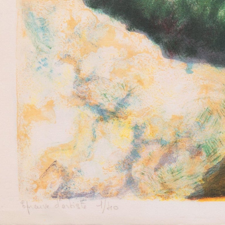 Signed lower right, 'Zarou' for Victor Zarou (French, b. 1930), inscribed 'Epreuve d'Artiste' with number and limitation 1/40, lower left, and titled, lower center 'Chemin des Bastides'.  Born in 1930 in Gassin, a small village near Saint-Tropez,