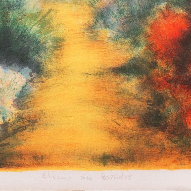 'Chemin des Bastides, Aix-en-Provence', Côte d'Azur, French Post-Impressionist For Sale 1