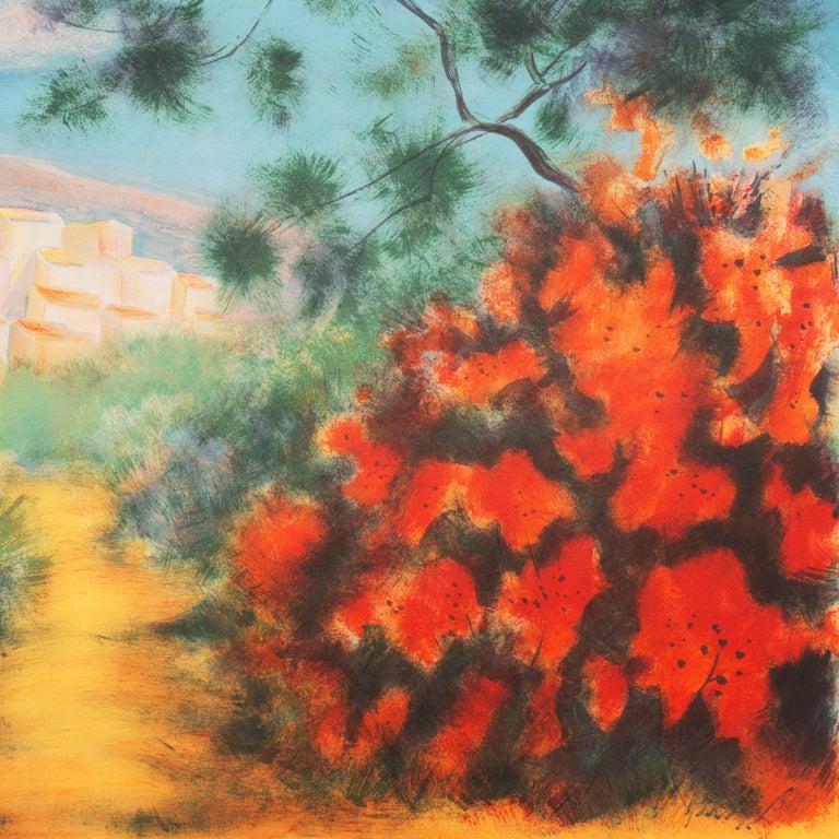 'Chemin des Bastides, Aix-en-Provence', Côte d'Azur, French Post-Impressionist For Sale 5