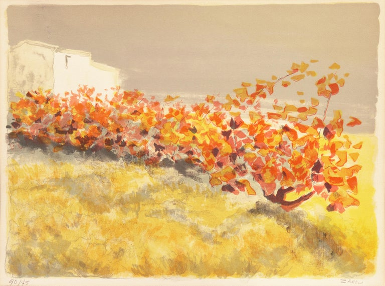 Provençal Vineyard   (Post-Impressionism, French, Midcentury) - Print by Victor Zarou