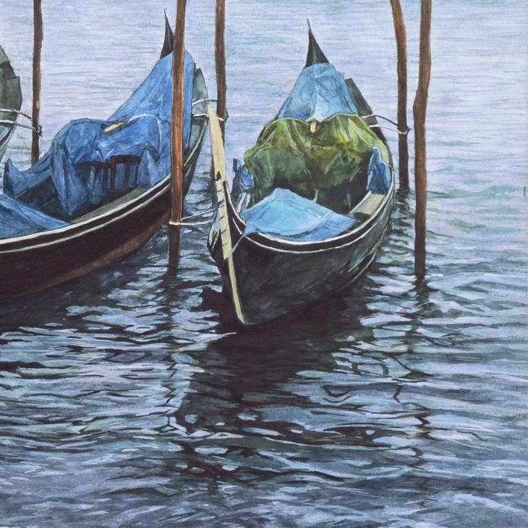 'Gondolas, San Giorgio Maggiore', Venetian Vedute, Venice, Ruskin School of Art For Sale 4