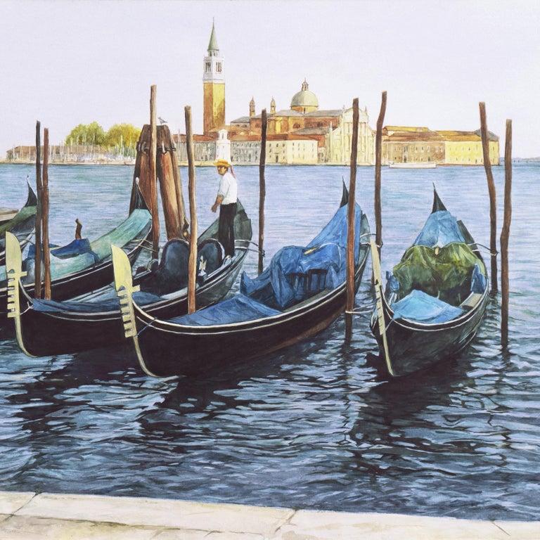 'Gondolas, San Giorgio Maggiore', Venetian Vedute, Venice, Ruskin School of Art For Sale 1