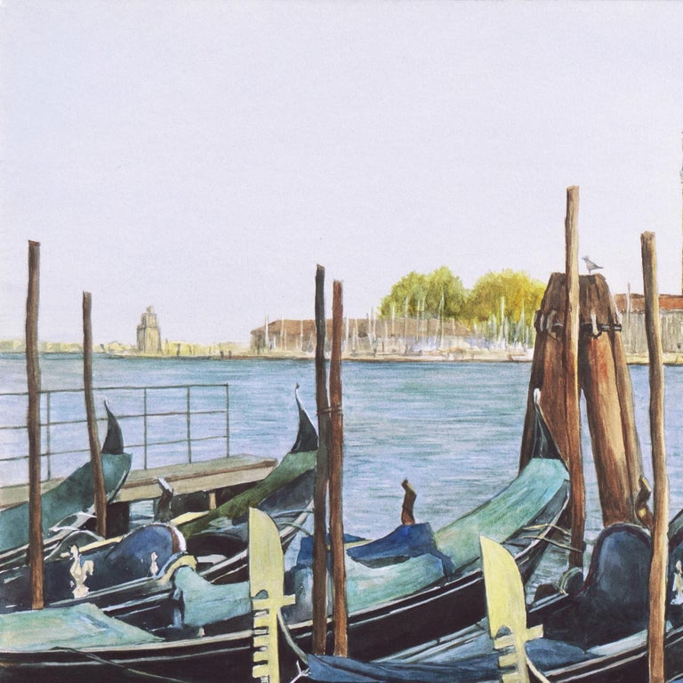 Waiting Gondolier, Venice with a view towards the island of San Giorgio Maggiore For Sale 9