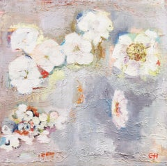 Large Abstracted oil, 'Spring Blossoms', California Bay Area Woman Artist