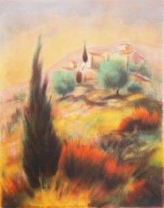'Provençale Landscape', French Post-Impressionist, Academie Julian