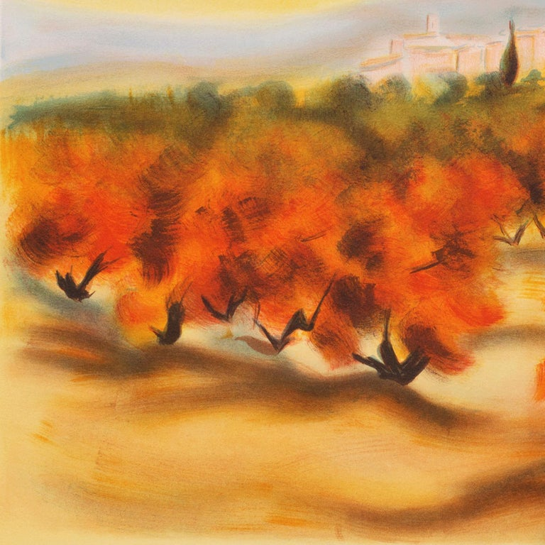 Lourmarin (Post-Impressionism, French, Provence, Orchard, Rural) For Sale 2