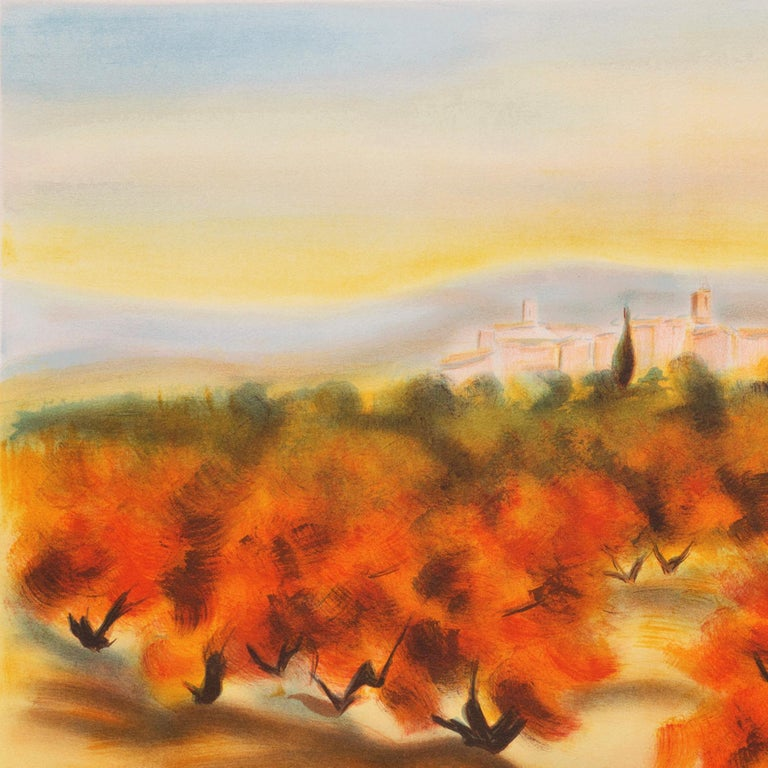 Lourmarin (Post-Impressionism, French, Provence, Orchard, Rural) For Sale 4