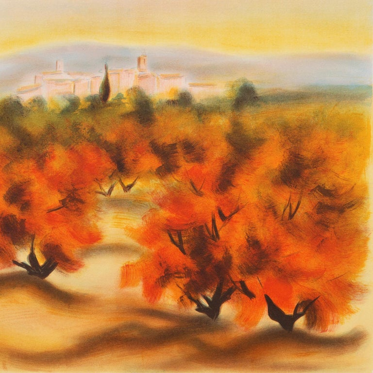 Lourmarin (Post-Impressionism, French, Provence, Orchard, Rural) For Sale 1