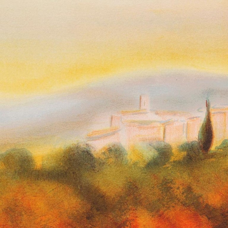 Lourmarin (Post-Impressionism, French, Provence, Orchard, Rural) For Sale 5