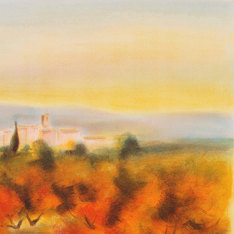 Lourmarin (Post-Impressionism, French, Provence, Orchard, Rural) For Sale 3