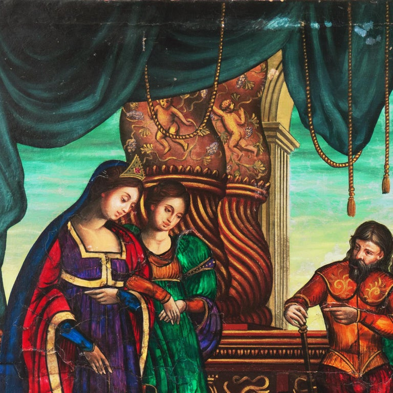 Old Master Oil, Salome and Herodias presented with the Head of John the Baptist For Sale 9