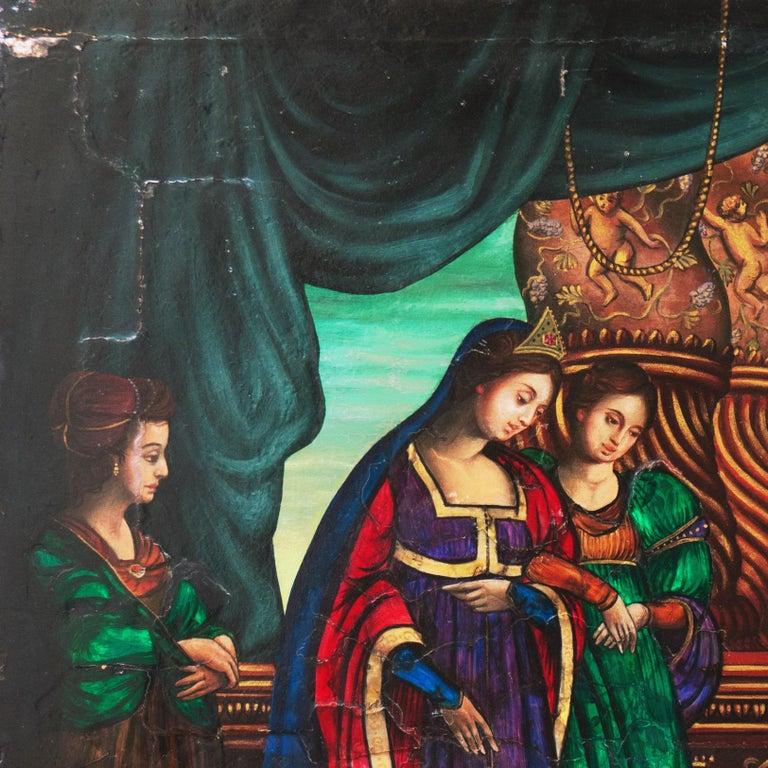 Old Master Oil, Salome and Herodias presented with the Head of John the Baptist For Sale 3