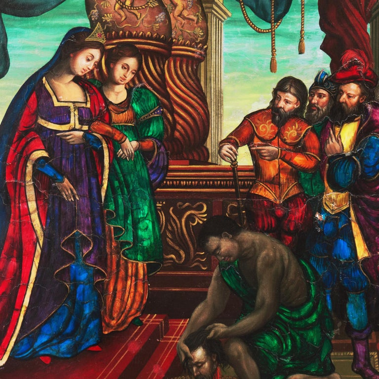 Old Master Oil, Salome and Herodias presented with the Head of John the Baptist For Sale 2