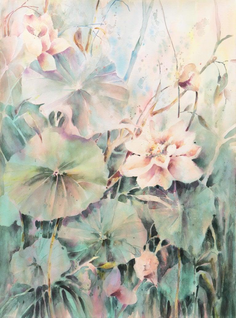 Beverly Fields Still-Life - 'Water Lilies', California Watercolor Society, SWA, Woman Artist, Zoltan Szabo