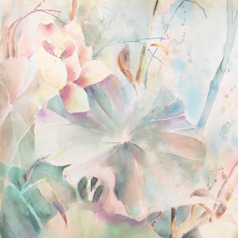 'Water Lilies', California Watercolor Society, SWA, Woman Artist, Zoltan Szabo For Sale 3